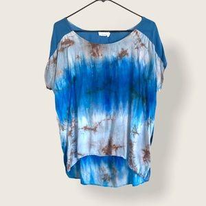 🌻Perch by Blu Pepper Tie-Dye Blue Shirt Top Rayon